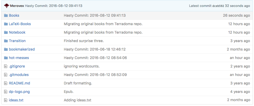 Screenshot of Github Series